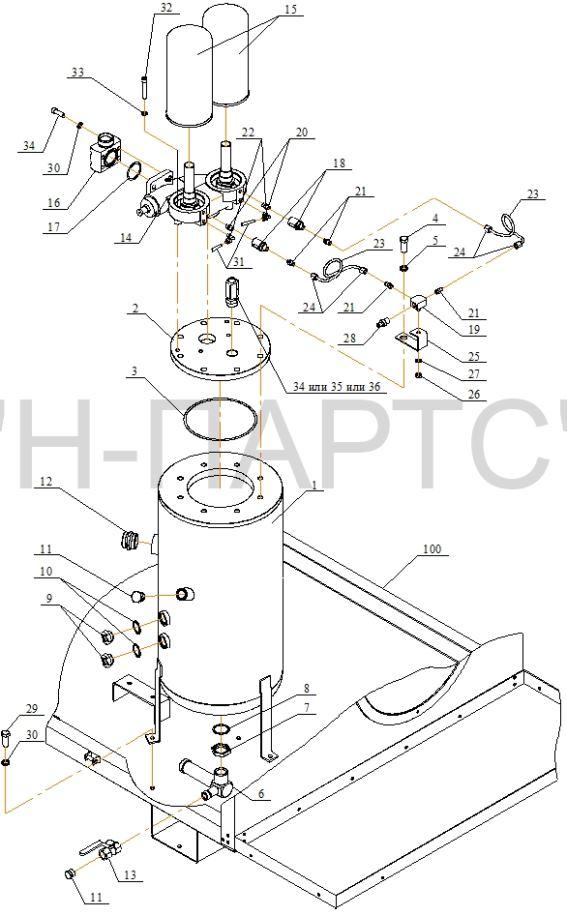 Деталировка компрессора ВК